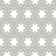 Seamless ornate pattern with star shapes Stock Illustration