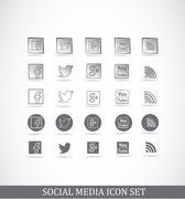 Social media icon set Piirros