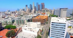 4K, Aerial View Of Los Angeles Downtown, Part 3(See Description For Part1 And 2) - stock footage