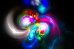 Multi-colored spots. Starry Nebula. - stock illustration