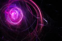 Nebula is a bright star. Star swirl. Colored sparks. - stock illustration