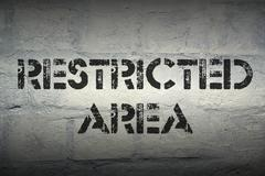 Restricted area Stock Illustration