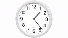 Round office clock - stock footage