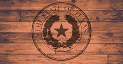 Texas State Seal Brand - stock illustration