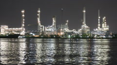 Refinery plant near rivers , Time lapse Stock Footage