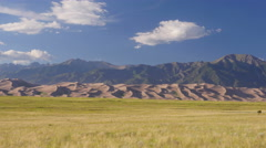 4K time lapse of the Great Sand Dunes in Colorado - stock footage