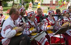 Gomel, outdoor events City of Masters. Speech of amateur ensemble - stock photo