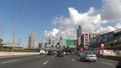 Tel Aviv highway exit Stock Footage