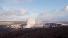 Stock Video Footage of Explosion at Kilauea Volcano Hawaii