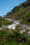 Silvretta water reservoir in Vorarlberg, Austria Stock Photos