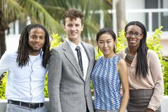 Business people smiling outdoors Stock Photos