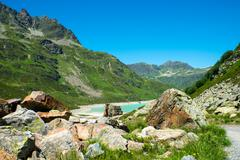 Silvretta water reservoir in Vorarlberg, Austria Stock Photos