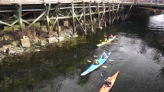 Kayaks, Alaska tourist kayaking Creek Street, Stock Footage