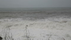Stormy sea during a typhoon  - stock footage