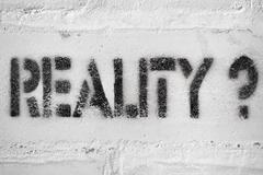 reality? - stock photo