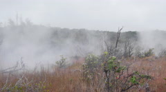 Volcanic steam vents - stock footage