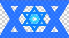 Star of David - Animation with alpha Stock Footage