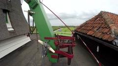 Zaandam Zaanse Schans near Amsterdam typical Dutch tatch windmill outside 4k Stock Footage