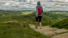 Peak District Hiking Timelapse Stock Footage