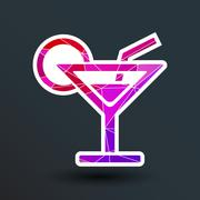 Vector pub wine drinks cold liquid logo cocktail Stock Illustration
