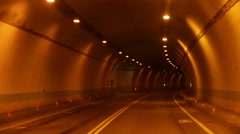 Driving through tunnel Stock Footage
