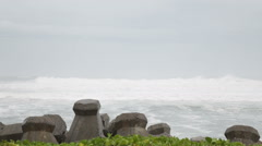 Sea with breakers in foreground Stock Footage