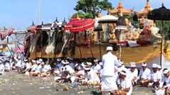 Indonesian people celebrate Balinese New Year and the arrival of spring. Bali Stock Footage
