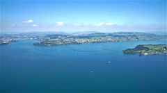 Lake lucerne top view buergenstock Stock Footage