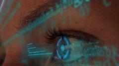 Futuristic Hacker Coding - stock footage