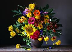 Bouquet from cultivated flowers Stock Photos