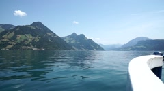 Lake lucerne ferry Stock Footage
