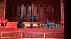 Chinese Prayer place Stock Footage
