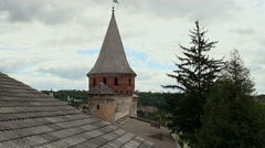 Towers of old fortess in Kamenetc-Podilsky Stock Footage