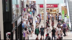 Shopping Mall Timelapse - stock footage