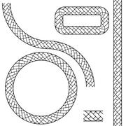 Repeating Black Rope Pattern Icon - stock illustration
