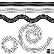 Repeating Black Rope Pattern Icon Stock Illustration