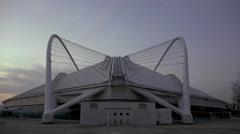 4K Greek Olympics stadium (OAKA) at dusk Stock Footage