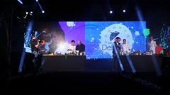 Delishow is a fashion and culinary mash up of cooking contest and catwalk Stock Footage