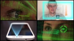 Montage Futuristic Technology Concept Stock Footage