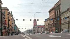 St. Petersburg, Russia, 2015 - Nevsky Prospekt . Stock Footage