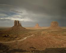 Rock formations in desert landscape, Monument Valley, Arizona, United States Kuvituskuvat