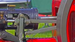 Traction engine component close up 7 Stock Footage