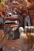 Ancient Sculpture of the Mythical Balinese Barong Stock Photos