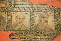 Ancient Christian mosaic Stock Photos