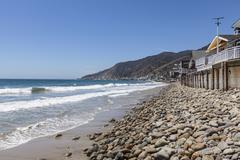 Topanga Beach on the Malibu Coast - stock photo
