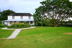 Kemp House is New Zealand's oldest building. - stock photo