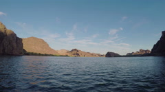 Travelling forward on Colorado River - stock footage