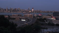 Lincoln Tunnel Helix NYC Skyline Stock Footage