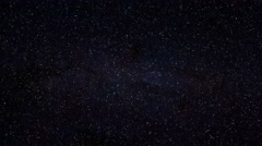 Loopable: Realistic Stars Twinkle in Night Sky - stock footage