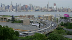 Lincoln Tunnel Helix Manhattan Skyline Stock Footage